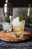 A Mint Julep with ice cubes
