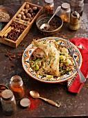 Chicken with chicken (North Africa)