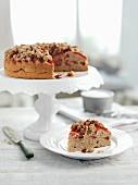 Plum cake cinnamon crumbles