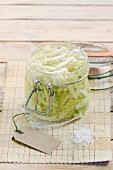 Pickled white cabbage