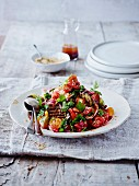Persian aubergine and tomato salad