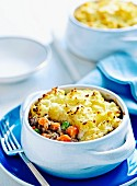 Lamb & Pea pie with cauliflower mash