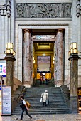 The imposing entrance to the Stazione Centrale, Milan's main railway station