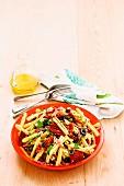 Mediterranean salami pasta