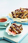 Cranberry and coconut flapjacks
