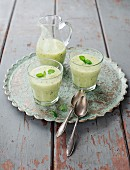 Kiwi and banana smoothies