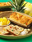 Candied fruit and pineapple bread