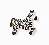 A zebra biscuit