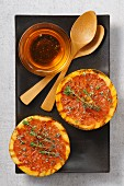 Roasted grapefruit with honey and thyme