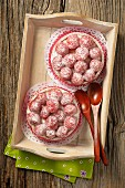 Sugared raspberry tartlets