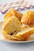 Vanilla muffins with chocolate and walnuts