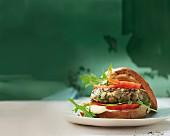 Austernpilz-Burger mit Zitronen-Aioli