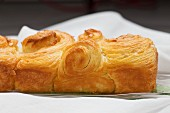 Puff pastry brioche with butter