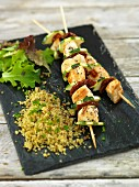 Chicken Kabobs with Couscous