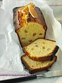 A candied ginger loaf cake
