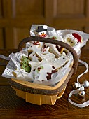 Assorted Christmas biscuits in a basket