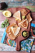 Quesadillas with guacamole (Mexico)