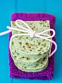 Homemade soap with moringa