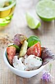 Ceviche mit Avocado und Tomaten
