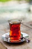 Tea in a typical Turkish tea glass