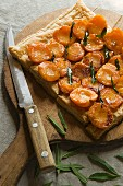 An apricot tart with verbena