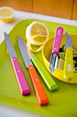 Lemons, limes and colourful knives