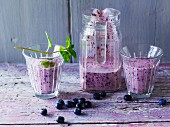 Blueberry and yoghurt shake