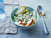 Celery salad with apples, walnuts and a yoghurt dressing