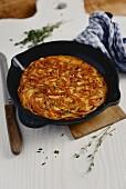 Frittata di Spaghetti (spaghetti omelette, Italy)