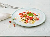 May turnip and strawberry carpaccio