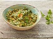 Oriental creamy spinach