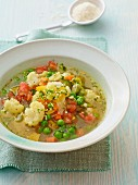 Summer vegetable soup with gremolata