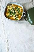 Bean and tofu stew with potatoes