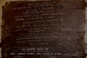 A menu written on a chalkboard