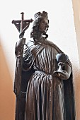 Le Ecclesia, an original figure from the cathedral in the Louvre Museum, Notre-Dame