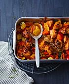 Mediterranean vegetable bake with chicken