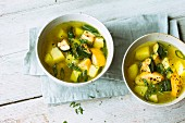 Courgette soup with potatoes