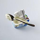 Tzatziki with a spoon