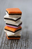 A stack of liquorice sweets