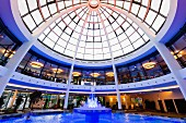 The impressive glass dome in the wellbeing temple Carpesol, thermal baths in Bad Rothenfelde