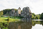 Five rocks and a river: Externsteine, East Westphalia