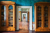 In the regal Corvey library there are 200 cabinets filled with 74, 000 books, Schloss Corvey, Höxter, East Westphalia