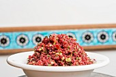 Visneli Kisir (Turkish bulgur salad with sour cherry juice)