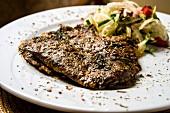 Yaprak Ciger (roast lamb liver from Turkey)