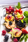 Various fruit tartlets
