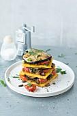 Vegan polenta lasagne with aubergines