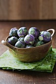 Purple Redarling Brussels sprouts
