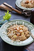 Celery risotto with Parmesan cheese