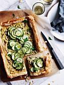 Zucchini and Gruyere galette