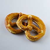 Two butter lye bread pretzels